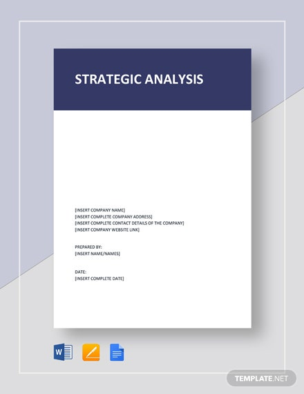 Strategic Analysis Report Template