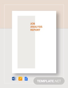 Job Analysis Report Template