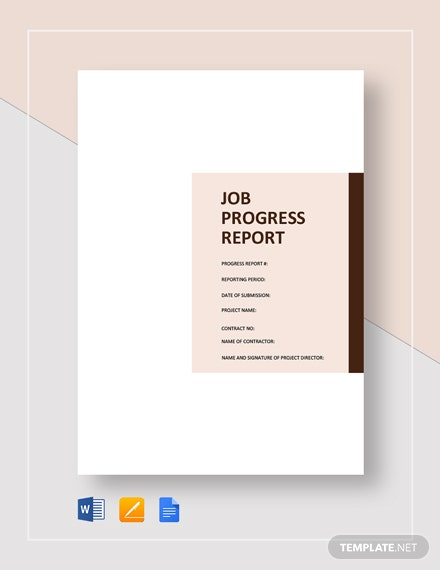 Job Progress Report Template
