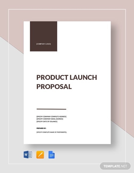 Product Launch Proposal Template