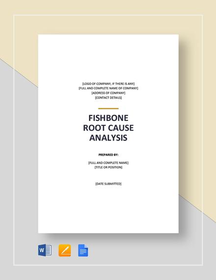 Fishbone Root Cause Analysis Template