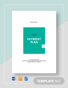 Payment Plan Template