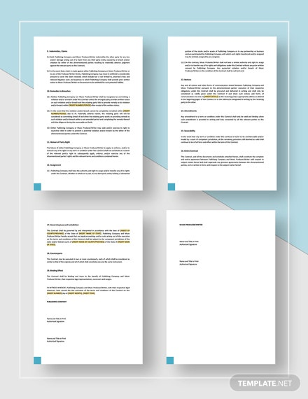 Music Publishing Contract Download
