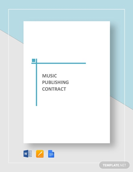 Music Publishing Contract