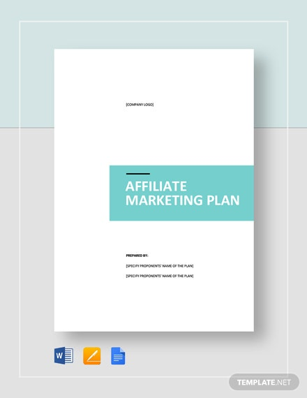 Affiliate Marketing Plan Template