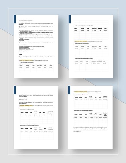 Sample Service Plan