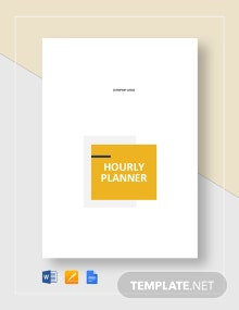 Printable Hourly Planner Template