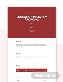 Education Program Proposal Template