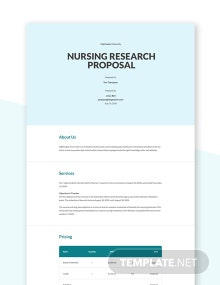 Nursing Research Proposal Template