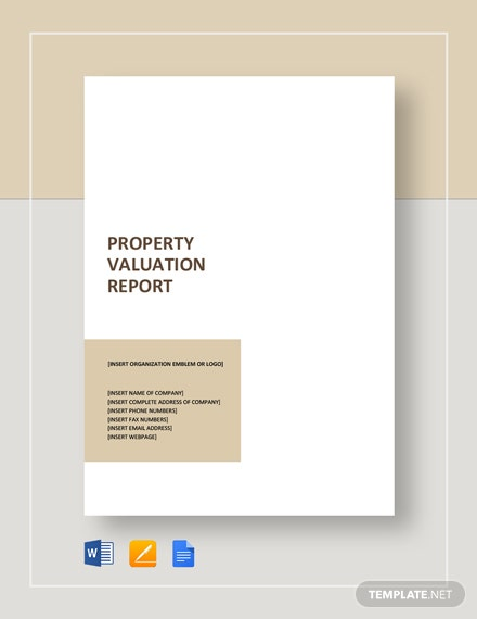 Property Valuation Report Template