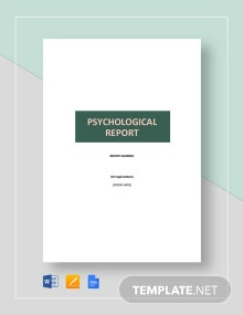 Psychological Report Template