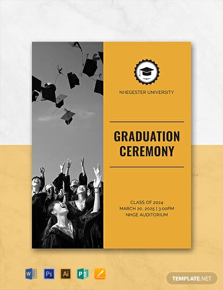 Terrific Free Graduation Programs Template Word Psd Indesign Download Free Architecture Designs Scobabritishbridgeorg
