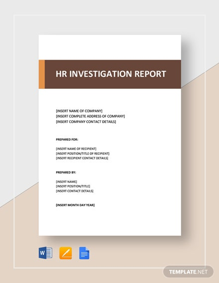 hr investigation report 2