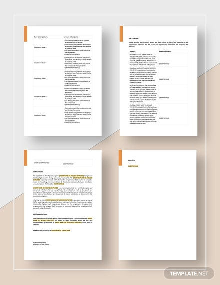 Sample HR Investigation Report