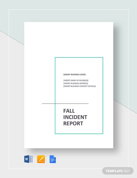 Fall Incident Report