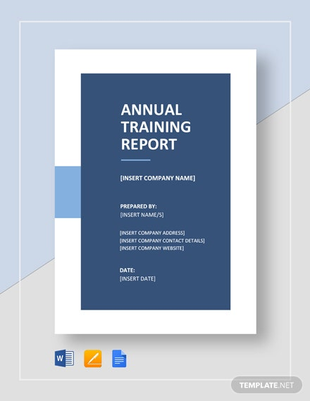 annual training report