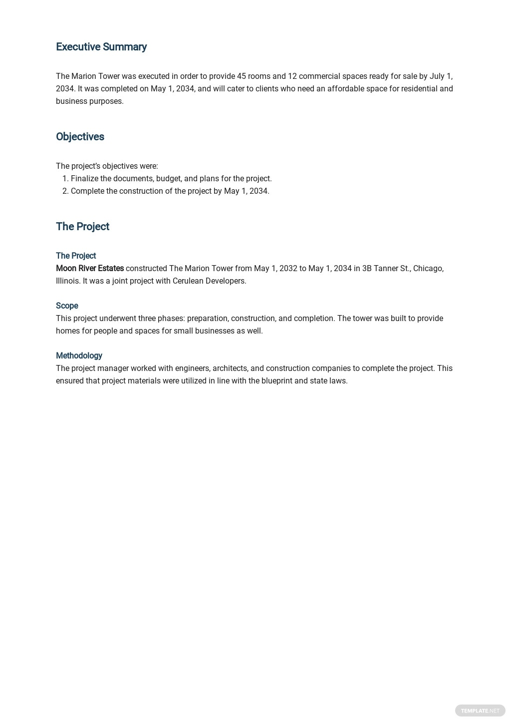 Real Estate Project Report Template 1.jpe