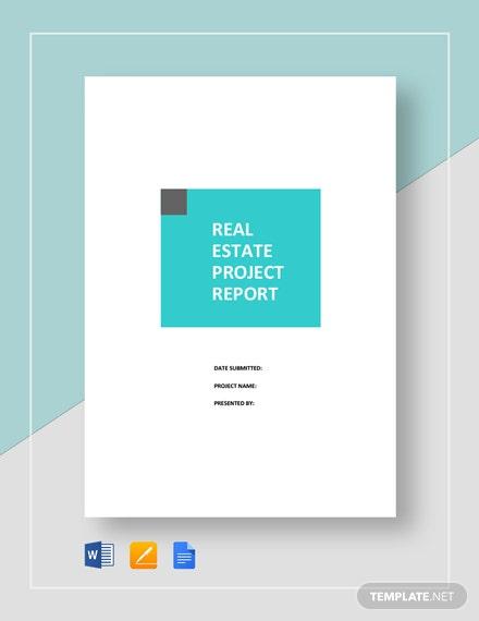 15+ Real Estate Project Report Templates - 6+ Free Word, PDF