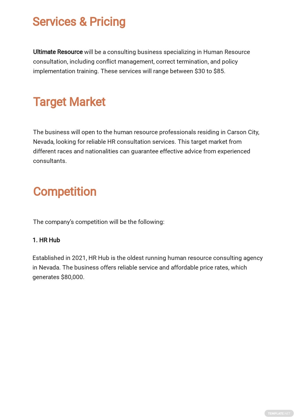 Human Resources Consulting Business Plan Template 2.jpe