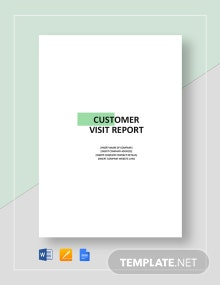 Customer Visit Report Template