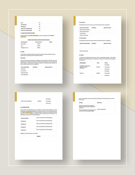 Monthly Investor Report Download