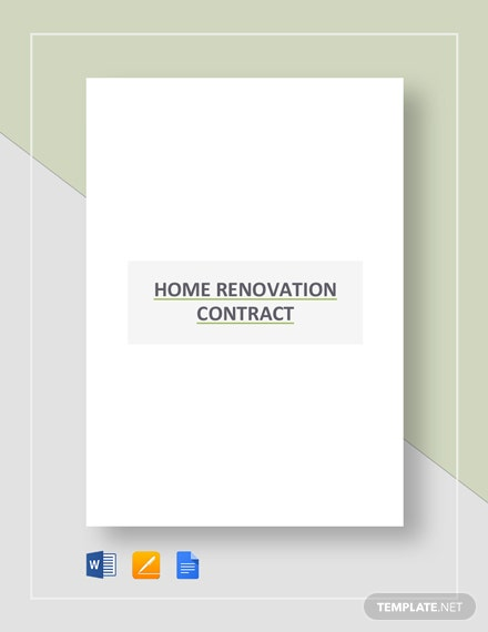 Home Renovation Contract Template