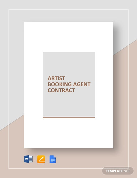 Artist Booking Agent Contract