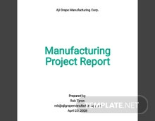 Manufacturing Project Report Template
