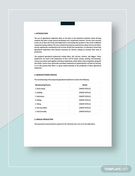 Sample Manufacturing Project Report