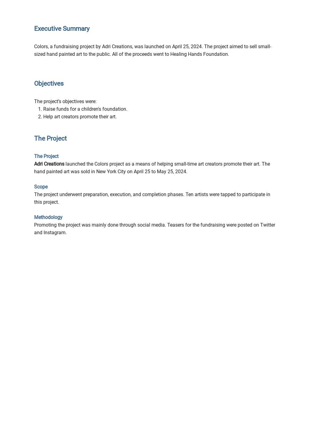 Petty Project Report Template 1.jpe