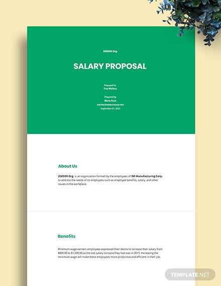 Salary Proposal Template