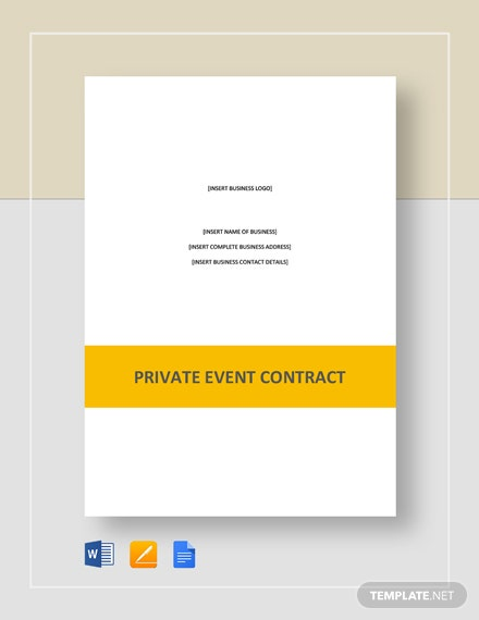 Private Event Contract Template