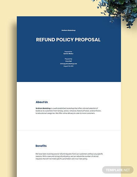 Policy Proposal Template
