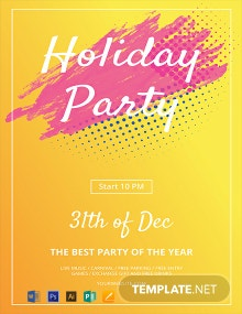 Free Holiday Party Flyer Template
