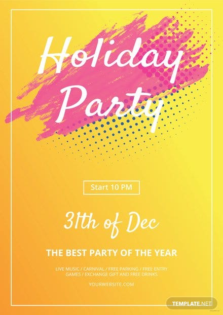 Free Holiday Party Flyer Template Free Templates - Free holiday flyer templates