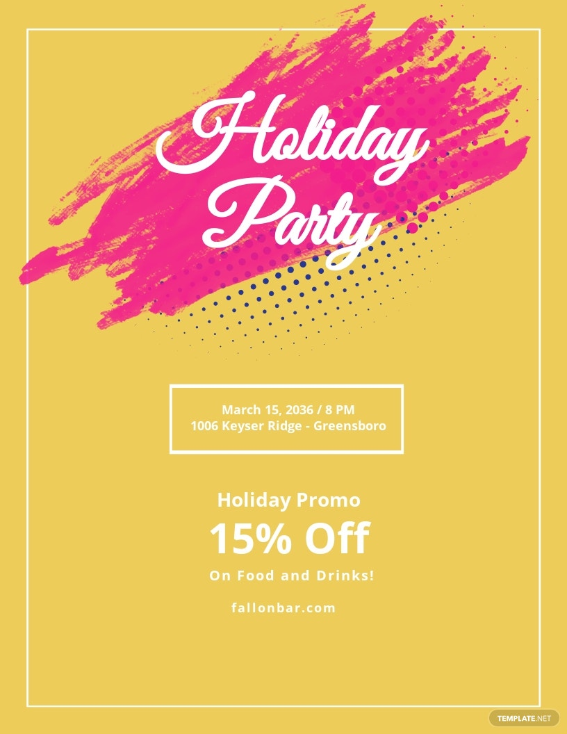 Holiday Party Flyer Template.jpe