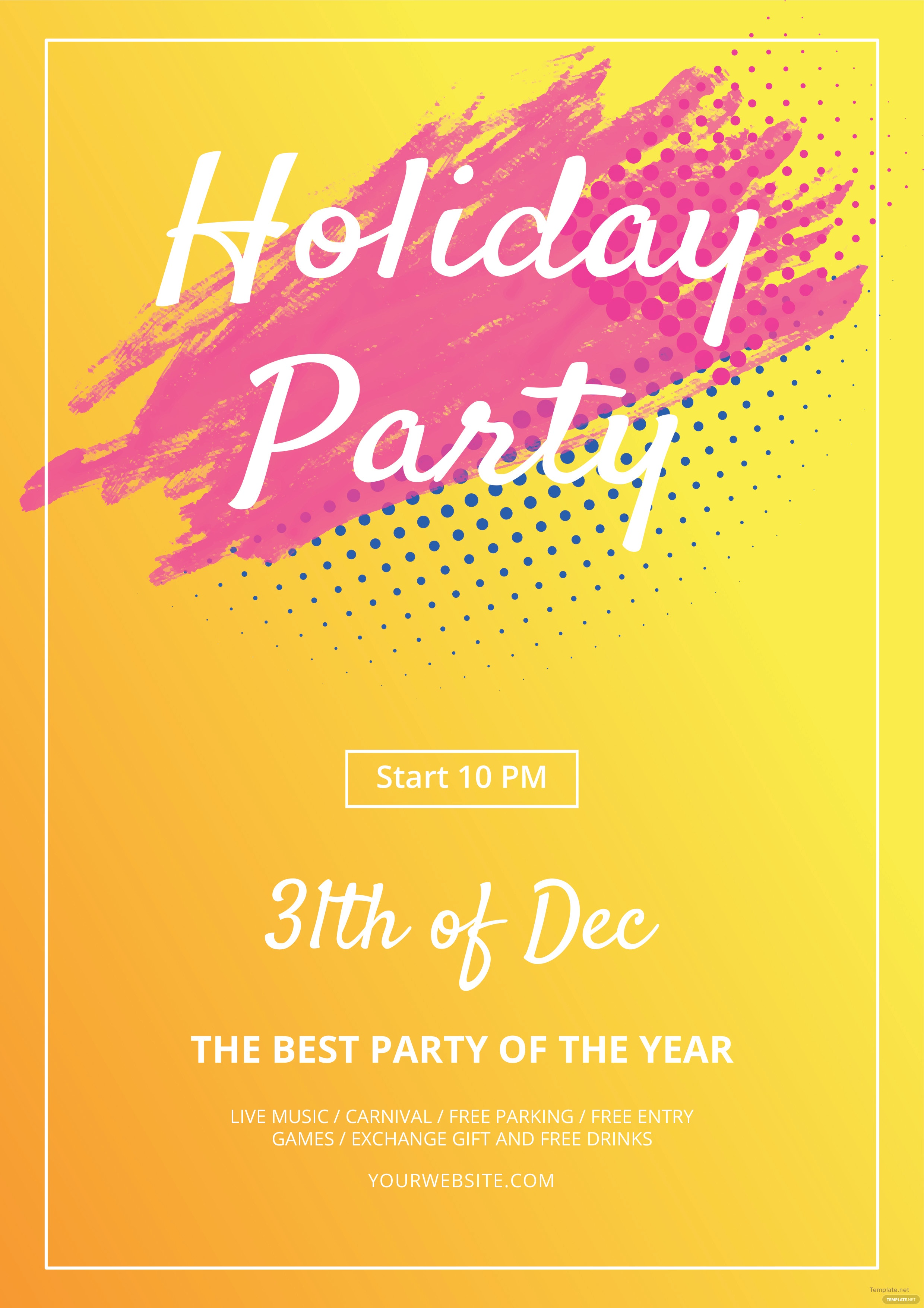 Free Holiday Flyer Templates | Free Holiday Party Flyer Template Gosu Talentrank Co