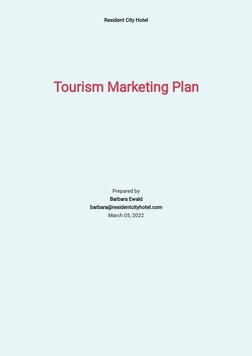 Tourism Marketing Plan Template