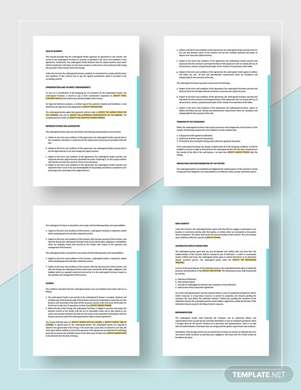Business Purchase Contract Download