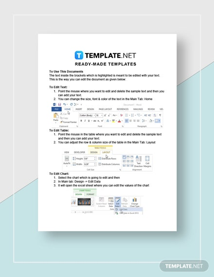 Business Purchase Contract Instructions