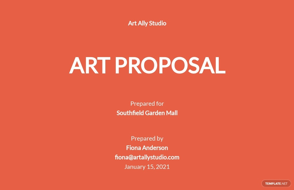 Art Proposal Template