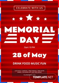 Memorial Day Car Sales >> Free Contest Flyer Template in Adobe Photoshop, Microsoft ...