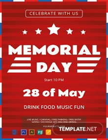 Free Simple Memorial Day Flyer Template