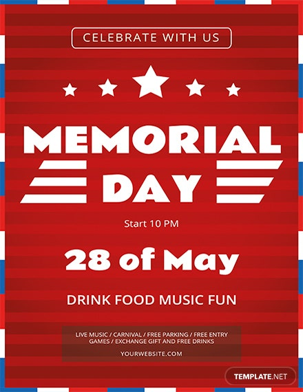 memorial day flyer template 1
