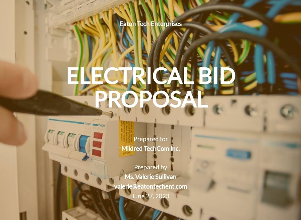 Electrical Bid Proposal Template.jpe