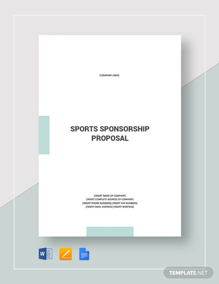 Sports Sponsorship Proposal Template