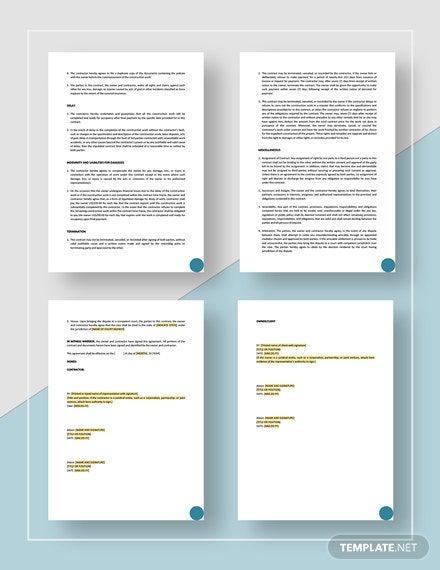 Project Contract Download
