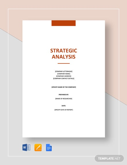 Strategic Analysis Template