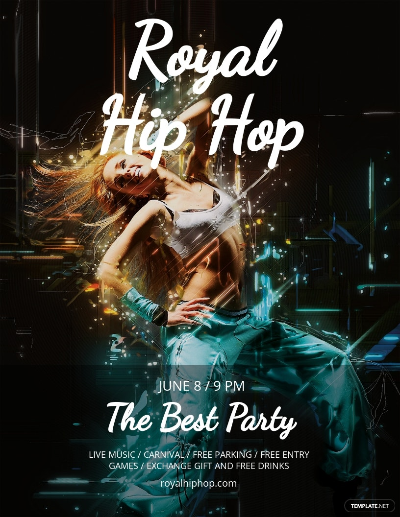 Free Royal Hip Hop Flyer Template