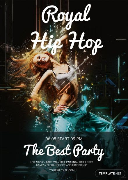 Free Royal Hip Hop Flyer Template Free Templates